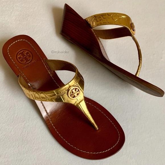 77469259e EUC✨Tory Burch Cameron Wedge Sandals. M 5c781f48035cf1f18eefd0a3